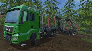 getlinkyoutube.com-Farming Simulator 2015 Mods- Man TGS Log Truck, New Holland Forest Ed. & Log Skidder