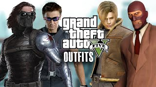 getlinkyoutube.com-GTA 5 Online - Outfits (Winter Soldier, Hawkeye, Team Fortress & Leon)