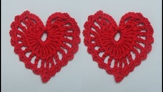 getlinkyoutube.com-How to Crochet a Heart Pattern #1 by ThePatterfamily