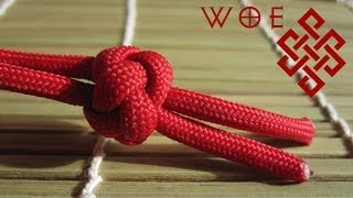 getlinkyoutube.com-How to Tie the Ideal Paracord Lanyard Knot (Two Strand Diamond Knot)