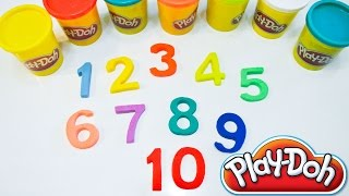 getlinkyoutube.com-Colorful Play Doh Numbers | Counting Real Numbers | Count 1-10 | Learn Prime Numbers