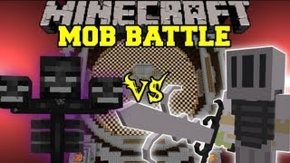 getlinkyoutube.com-WITHER VS. WHITE KNIGHT HERO - Minecraft Mob Battles - Arena Battle - Scapecraft Mod