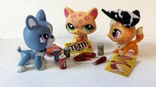getlinkyoutube.com-How to Make LPS Tiny Junk Food Snacks - DIY Fried Chicken, Soda, Candy, & Chips