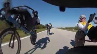 getlinkyoutube.com-Bike Sebring, recumbent rotating paceline demo