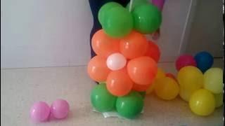 getlinkyoutube.com-Columna con flores de globos