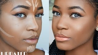 getlinkyoutube.com-DETAILED Highlight & Contouring Routine (Beginner Friendly) ♥