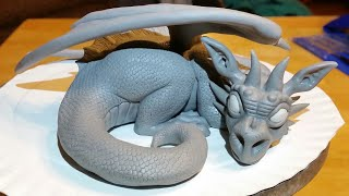 getlinkyoutube.com-Polymer Clay Dragon Timelapse