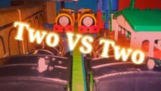 getlinkyoutube.com-Two VS Two | Tomy Slender Engine Games: Ep. 16