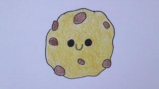 getlinkyoutube.com-Como desenhar um biscoito (cookie)