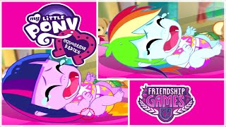getlinkyoutube.com-💫 My Little Pony Equestria Babies Twilight Sparkle and Rainbow Dash Care Game