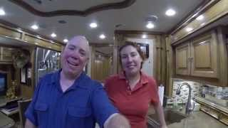 getlinkyoutube.com-Our Tiffin Allegro Bus 45LP Coach Walk Through