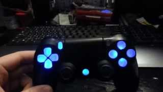 getlinkyoutube.com-Ps4 controller LED mod update (clear buttons)