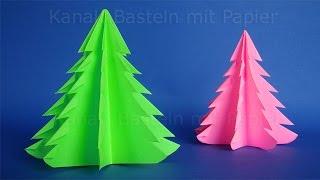 getlinkyoutube.com-Weihnachtsbasteln: Weihnachtsbaum falten - DIY Weihnachtsdeko basteln - Weihnachten Origami