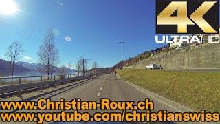 UHD/4K - Switzerland 278 (Camera on board): Zürichsee from Kanton St.Gallen to Zürich (GoPro Hero3)