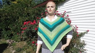 getlinkyoutube.com-CROCHET How To #Crochet Easy Ribbed Adult Poncho #TUTORIAL #342
