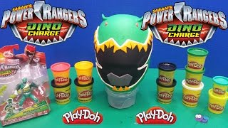 getlinkyoutube.com-Power Rangers Dino Charge Play-Doh Huge Surprise Egg - Green Ranger!