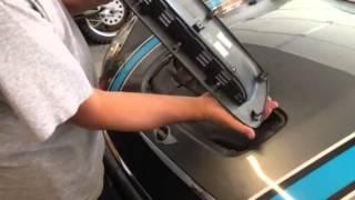 getlinkyoutube.com-How to: Remove / Install  hood scoop on 2007-2013 Mini Cooper S model