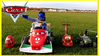 getlinkyoutube.com-PLAYTIME AT THE PARK Disney Pixar Cars Power Wheels GIANT RC MONSTER TRUCK Car Giant Egg Surprise