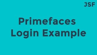 JSF-JPA-Primefaces Login Example