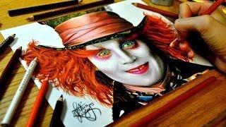 getlinkyoutube.com-Drawing Johnny Depp as the Mad Hatter