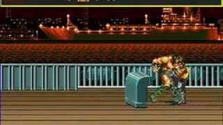 Streets of Rage Boss Tricks rounds 1-6 Adam Hardest.