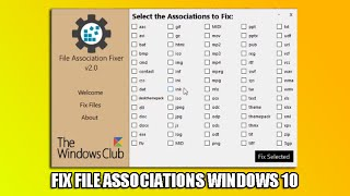 Fix File Associations Windows 10