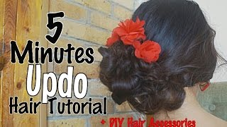 5 Minutes Up Do Hair Tutorial + Bonus DIY Hair Accessories - Bahasa Indonesia