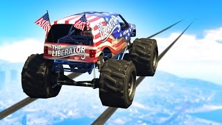 getlinkyoutube.com-IMPOSSIBLE MONSTER TRUCK CHALLENGE! (GTA 5 Funny Moments)