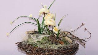 getlinkyoutube.com-Весенняя композиция с первоцветами на березовых ветках и мхе