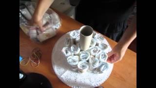 getlinkyoutube.com-TUTORIAL: TORTA di PANNOLINI/ DIAPERS CAKE (-DIY-)