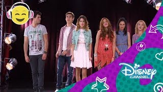 getlinkyoutube.com-Disney Channel España | Videoclip Karaoke Violetta - Algo Se Enciende