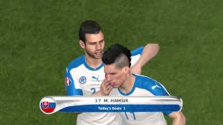 getlinkyoutube.com-PES 2016 UEFA Euro 2016 Slovensko Vs Wales Gameplay Xbox one