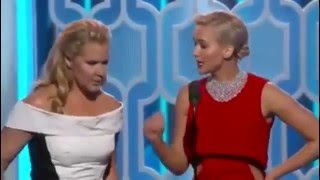 getlinkyoutube.com-Jennifer Lawrence and Amy Schumer Hilarious at the Golden Globes 2016