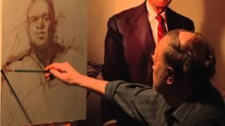 Nelson Shanks paints one-hour portrait