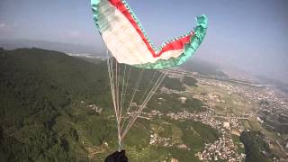 getlinkyoutube.com-out of control Reserve parachute Toss Twist of Lines SAT fullstall japan 2013 9 13