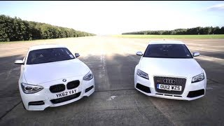 getlinkyoutube.com-BMW M135i v Audi RS3: Road, Track, Drag-race. - /CHRIS HARRIS ON CARS