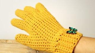 getlinkyoutube.com-How to crochet GLOVES with fingers ♥ CROCHET LOVERS