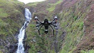 Grey mares tail waterfall, Moffat with Yuneec Q500 4k quadcopter