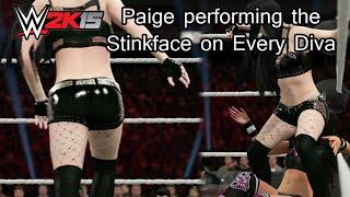 getlinkyoutube.com-WWE 2K15 (PS4) Paige performing the Stinkface on every Diva