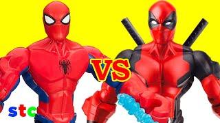getlinkyoutube.com-Super Hero Mashers Deadpool vs Spiderman