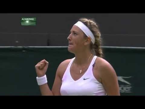 Azarenka match point v Lucic-Baroni - Wimbledon 2014