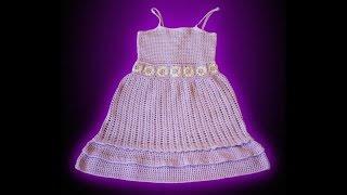 getlinkyoutube.com-Crochet tutorial vestido solera, niña 2 años: parte 1 de 3