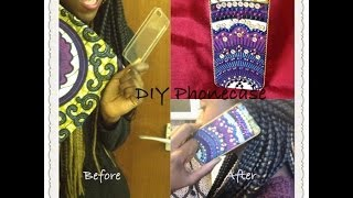 getlinkyoutube.com-DIY: Phone case with African Ankara Fabric (Simple & Easy)