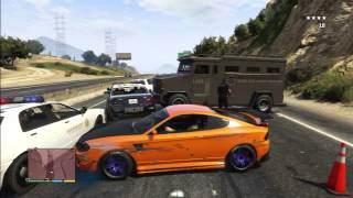 getlinkyoutube.com-GTA 5 LIKE FAST AND FURIOUS POLICE SCENE