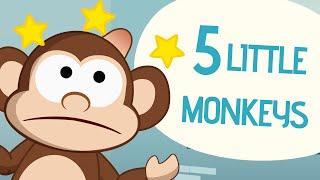 getlinkyoutube.com-5 Little Monkeys - Nursery Rhymes - Toobys