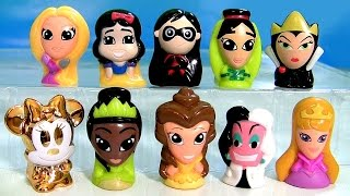 getlinkyoutube.com-Disney Wikkeez Heroines Princesses Villains Surprise Box ❤ Gold Minnie Mouse Mulan Belle Cruella