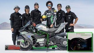 getlinkyoutube.com-Ninja H2R 400 km/h by 38 Team ณ ทะเลเกลือ Bonneville : motorcycle tv