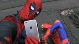 getlinkyoutube.com-Deadpool Pranks Spider-Man