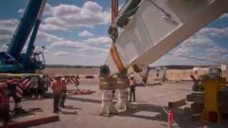 getlinkyoutube.com-Liebherr - R 9800 Mining Excavator Ship to Site (Timelapse)