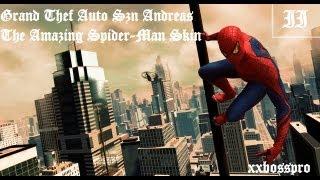 getlinkyoutube.com-Grand Theft Auto San Andreas   The Amazing Spider-Man skin   ☆☆☆☆